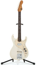 Musical Instruments:Electric Guitars, 1960's Kapa Cobra White Solid Body Electric Guitar #21185...