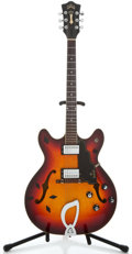 Musical Instruments:Electric Guitars, 1968 Guild Starfire IV Sunburst Semi-Hollow Body Electric Guitar#EL-1866...