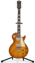 Musical Instruments:Electric Guitars, Burny Luper Prade Honey Burst Solid Body Electric Guitar ...