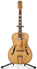 Musical Instruments:Electric Guitars, 1950's Chimes Single Pickup Project Natural Archtop Electric Guitar...