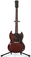 Musical Instruments:Electric Guitars, 1963 Gibson Les Paul Jr Cherry Solid Body Electric Guitar#131675...