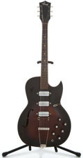 Musical Instruments:Electric Guitars, 1960's Kay Speed Demon Project Sunburst Semi-Hollow Body ElectricGuitar ...