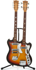 Musical Instruments:Electric Guitars, 1960's TeleStar Double-Neck Sunburst Solid Body Electric Guitar ...