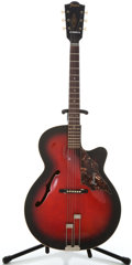 Musical Instruments:Acoustic Guitars, 1960's Framus Sorello 5159 Red Burst Archtop Acoustic Guitar#47300...