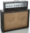 Musical Instruments:Amplifiers, PA, & Effects, 1960's Sears Silvertone 1484 Gray Guitar Amplifier ... (Total: 2 )