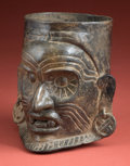 Pre-Columbian:Ceramics, Maya Cup with Old Fire God...