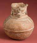 American Indian Art:Pottery, Maya Jar with Deity and Glyph Band...