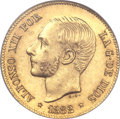 Philippines, Philippines: Alfonso XII gold 4 Pesos 1882,...