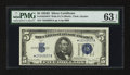 Small Size:Silver Certificates, Fr. 1654* $5 1934D Wide II Silver Certificate Star. PMG Choice Uncirculated 63 EPQ.. ...