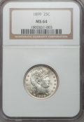 Barber Quarters: , 1899 25C MS64 NGC. NGC Census: (66/28). PCGS Population (51/35).Mintage: 12,624,846. Numismedia Wsl. Price for problem fre...