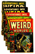 Golden Age (1938-1955):Horror, Adventures Into Weird Worlds Group (Atlas, 1952).... (Total: 5Comic Books)