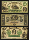 Obsoletes By State:Louisiana, Three Citizens' Bank of Louisiana Obsoletes.. ... (Total: 3 notes)