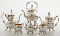 Silver Holloware, American:Tea Pots, Whoopi Goldberg Collection. BALTIMORE SILVER PLATING CO. SIX-PIECESILVER-PLATED TEA AND COFFEE SERVICE . Baltimore, M... (Total: 6Items)