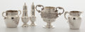 Silver Holloware, American:Other , Whoopi Goldberg Collection. SET OF FIVE SILVER TABLE ITEMS BYVARIOUS MAKERS . Late 19th century . Marks: (winged S) ... (Total:5 Items)