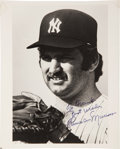 Autographs:Photos, Late 1970's Thurman Munson Signed Photograph....