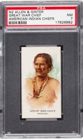 "Non-Sport Cards:Singles (Pre-1950), 1888 N2 Allen & Ginter ""American Indian Chiefs"" Great War ChiefPSA NM 7 - Only Two Higher! ..."