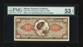 Military Payment Certificates:Series 641, Series 641 $10 PMG About Uncirculated 53 EPQ.. ...