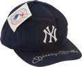 Autographs:Others, 1980's Mickey Mantle Signed Yankees Cap....