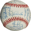 Autographs:Baseballs, 1995 Atlanta Braves Team Signed Baseball....