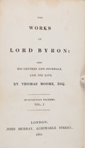 Books:Literature Pre-1900, [Lord Byron]. The Works of Lord Byron with his Letters andJournals and his Life, by Thomas Moore, Esq. London: ...(Total: 17 Items)