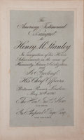 Books:Travels & Voyages, [Henry M. Stanley]. The American Testimonial Banquet to Henry M.Stanley In Recognition of His Historic Achievements in ...