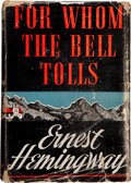 Books:First Editions, Ernest Hemingway. For Whom the Bell Tolls. New York: CharlesScribner's Sons, 1940. First edition, first printing. O...