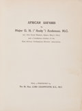 """Books:Sporting Books, Major G. H. """"Andy"""" Anderson. African Safaris. Kenya:Privately Printed, [c. 1946]. First edition. Octavo. xvi, 1..."""