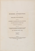 Books:First Editions, Walter Scott. The Border Antiquities of England andScotland; Comprising Specimens of Architecture andSculpture, ... (Total: 2 Items)