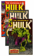 Silver Age (1956-1969):Superhero, The Incredible Hulk Group (Marvel, 1968-69) Condition: Average VF-.... (Total: 9 Comic Books)