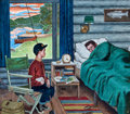 Mainstream Illustration, AMOS SEWELL (American, 1901-1983). Let's Go Fishing!, SaturdayEvening Post cover, August 25, 1962. Gouache and tempera ...
