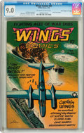 "Golden Age (1938-1955):War, Wings Comics #66 Davis Crippen pedigree (""D"" Copy) (Fiction House,1946) CGC VF/NM 9.0 Off-white to white pages...."