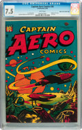 Golden Age (1938-1955):Science Fiction, Captain Aero Comics #26 Mile High pedigree (Holyoke Publications,1946) CGC VF- 7.5 White pages....