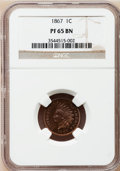 Proof Indian Cents: , 1867 1C PR65 Brown NGC. NGC Census: (14/2). PCGS Population (3/0).Mintage: 625. Numismedia Wsl. Price for problem free NGC...