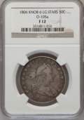 Early Half Dollars: , 1806 50C Knobbed 6, Large Stars Fine 12 NGC. O-105a. PCGSPopulation (8/90). Numismedia Wsl. Price for ...