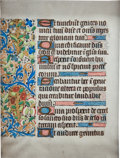 Books:Manuscripts, [Illuminated Manuscript]. Illuminated Manuscript Leaf from a Bookof Hours. [Northern France, n.d., ca. 1475]....