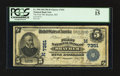 National Bank Notes:Missouri, Braymer, MO - $5 1902 Plain Back Fr. 598 The First NB Ch. #(M)7351. ...