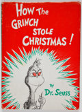 Books:First Editions, Dr. Seuss. How the Grinch Stole Christmas! New York: RandomHouse, [1957]. First edition in first issue dust jac...