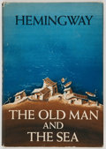 Books:First Editions, Ernest Hemingway. The Old Man and the Sea. New York:Scribner's, 1952. First edition, first state dust jacket. O...