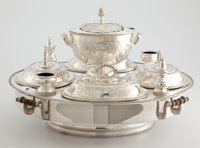 Whoopi Goldberg Collection  VICTORIAN SILVER-PLATED FITTED REVOLVING SERVER Late 19th century