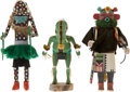 American Indian Art:Kachina Dolls, THREE SOUTHWEST COTTONWOOD KACHINA DOLLS. c. 1970... (Total: 3Items)
