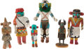 American Indian Art:Kachina Dolls, SIX SOUTHWEST COTTONWOOD KACHINA DOLLS. c. 1950 - 1990... (Total: 6Items)
