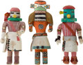 American Indian Art:Kachina Dolls, THREE HOPI COTTONWOOD KACHINA DOLLS. c. 1950... (Total: 3 Items)