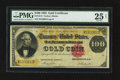 Large Size:Gold Certificates, Fr. 1214 $100 1882 Gold Certificate PMG Very Fine 25 Net.. ...
