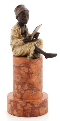 FROM A PRIVATE HOUSTON COLLECTOR  FRANZ XAVIER BERGMAN (AUSTRIAN, 1861-1936) COLD-PAINTED FIGURAL BRONZE: <