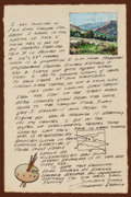 Works on Paper, STAPLETON KEARNS (American, b. 1952). Illustrated Personal Letter from the Artist, 2004. After the Spring Rain (Palo D...
