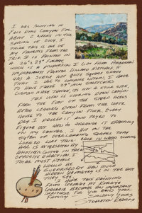 STAPLETON KEARNS (American, b. 1952) Illustrated Personal Letter from the Artist, 2004 After the