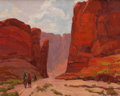 , JOHN MODESITT (American, b. 1955). The Journey West - Canyon de Chelly. Oil on canvas. 16 x 20 inches (40.6 x 50.8 cm). ...