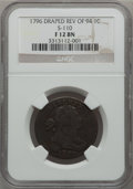 Large Cents, 1796 1C Draped Bust, Reverse of 1794 Fine 12 NGC. S-110, B-16,R.3....