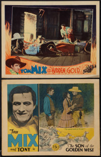 "The Son of the Golden West and Other Lot (FBO, 1928). Lobby Cards (2) (11"" X 14""). Western. ... (Total: 2 Item..."