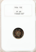 Proof Barber Dimes, 1904 10C PR66 NGC....